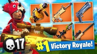 The *BEST* LOADOUT in FORTNITE! - 17 KILL Gameplay