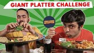 Giant Vegetarian Platter Eating Challenge  Challenge Accepted#20