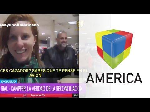 Jorge Rial y Agustina Kämpfer regresaron a la Argentina reconciliados