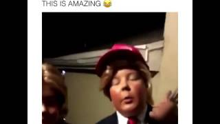 Kids costume as Donald Trump and Hillary Clinton for Halloween