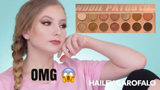 New Laura Lee Nudie Patootie Palette Review And Swatches | Hailey Garofalo