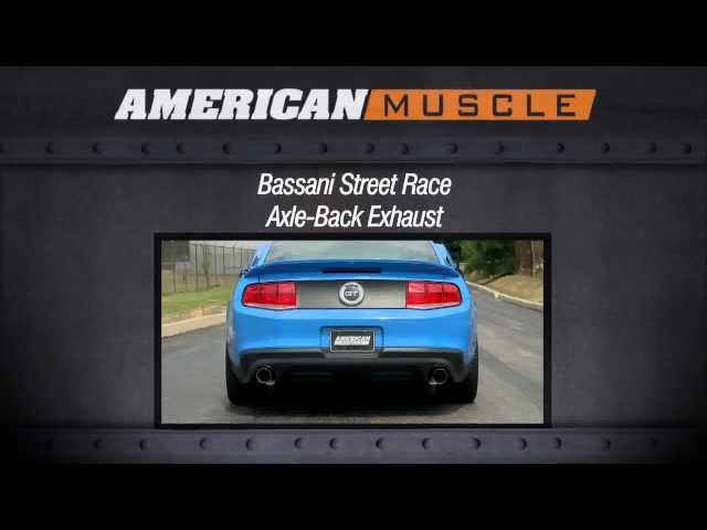 Mustang Bassani Street Race Axle-Back Exhaust (11-13 GT) Sound Clip