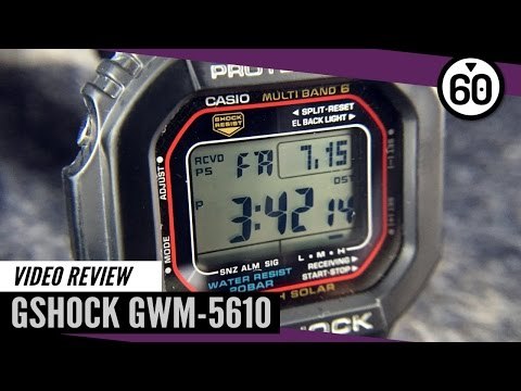Casio G-Shock GWM-5610 GW-5600 Atomic Solar Video Review – 60CLICKS