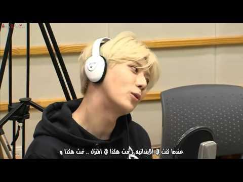150508 KISS THE RADIO - Hyunseung speed quiz Arabic Sub