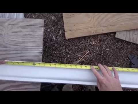 How To Install Rain Gutters   Aluminium Flashing & 10' Gutter Installation   NOT Seamless Guttering