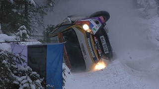 L. Cook crash @ WRC Rally Sweden 2017