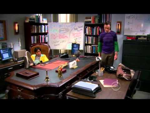 The Big Bang Theory Raj Giant Desk Hebsub Youtube