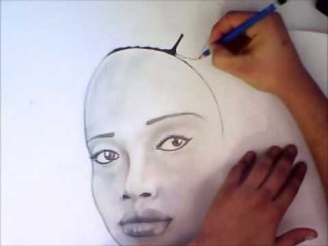 Afro Woman Drawing Speed Drawing of African Woman
