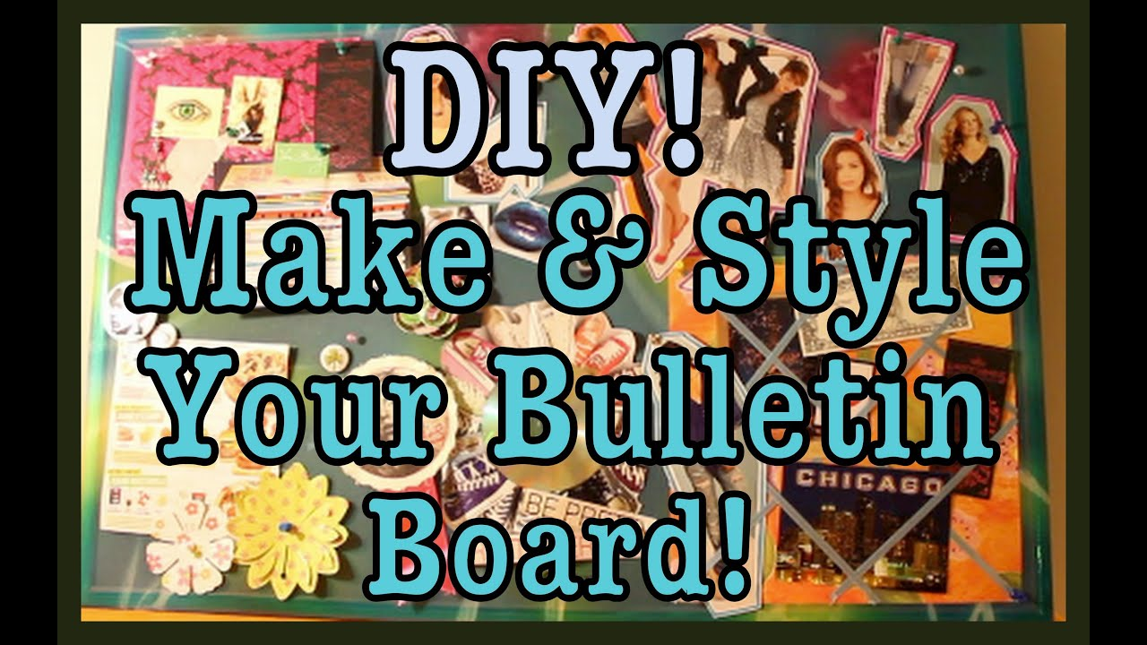 Diy Make Amp Style A Bulletin Board Roomspiration Youtube
