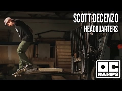 Scott Decenzo - Headquarters skateboard part at OC Ramps warehouse