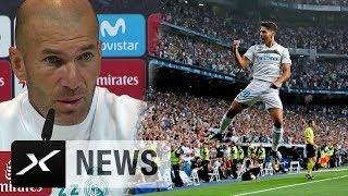 "Zinedine Zidane voll des Lobes: ""Marco Asensio phänomenal"" | Real Madrid - Deportivo La Coruna"