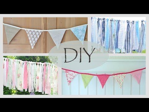 DIY - Fröhliche Wimpelkette Nähen /Stoffgirlande/ Romantische Sommerfestdeko/ How To