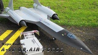 UNIQUE RC JET A-12 U.S AIR FORCE REMOTE CONTROLLED TURBINE SCALE MODEL