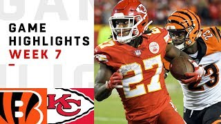 Bengals vs. Chiefs Week 7 Highlights | NFL 2018