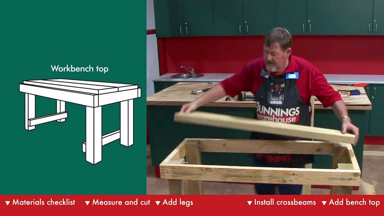 workbench plans bunnings