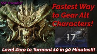 Fastest Way to Level and Gear an Alt Character in Season 17!