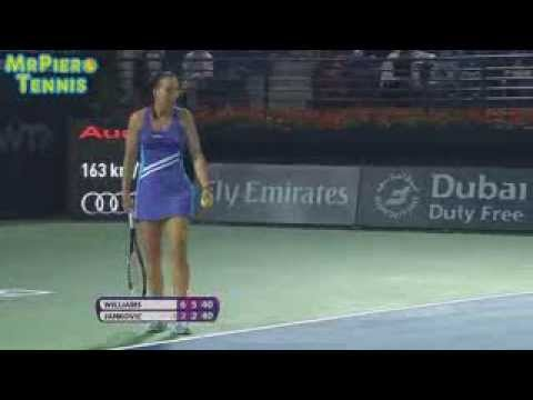 Fight Of Serena And Jelena High Drama in Dubai 2014