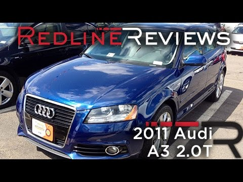 2011 Audi A3 2.0T Review, Walkaround, Start Up, Test Drive