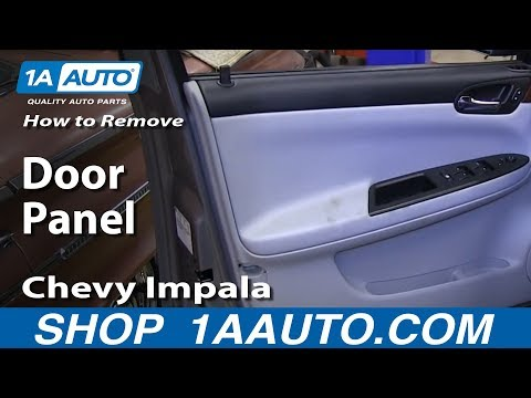 How To Remove Install Front Door Panel 2006-12 Chevy Impala