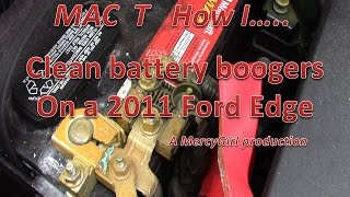 Battery boogers on a 2011 Ford Edge