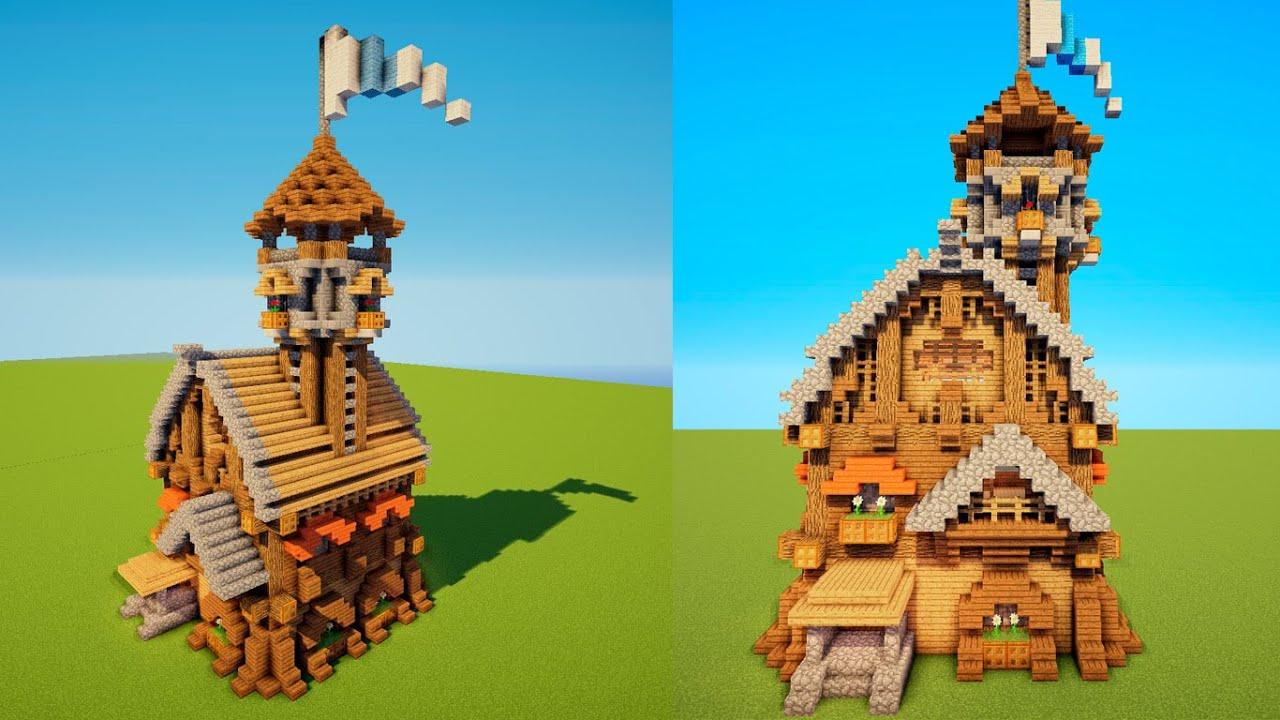 Как сделать средневековый дом майнкрафт