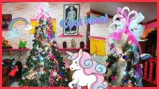 Christmas Tree Decoration Unicorn Inspired   Decorating Christmas Tree