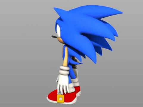 Sonic The Hedgehog 3d Model Download Youtube