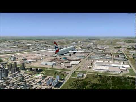 Around the World Flight 1: Heathrow to Montreal (P3D)