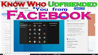 how to see who unfriended you on facebook 2018