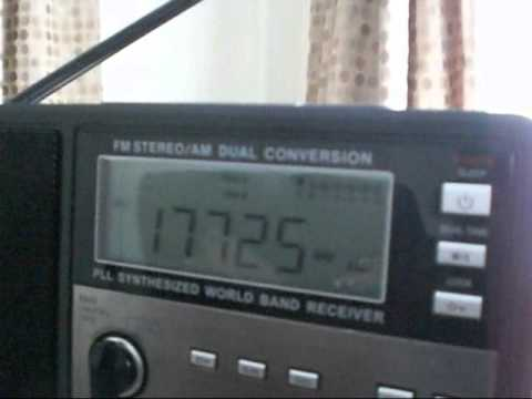 (old recording) Voice Of Africa, 17725 kHz 07/06/11