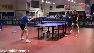 Ma Long vs Zhang Jike training Table tennis full