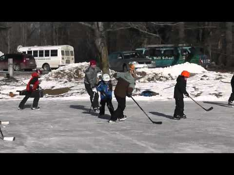 The Well School, Pond Hockey Video, Unedited, Jan 26, 2013