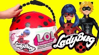 LOL Big Surprise *Customized* DIY Miraculous Ladybug Lil Sisters L.O.L. Dolls and Toys