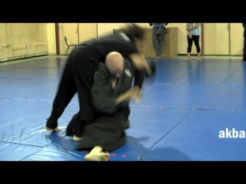 Advanced kata guruma against collar tie - Ninjutsu technique for Akban wiki Image 1