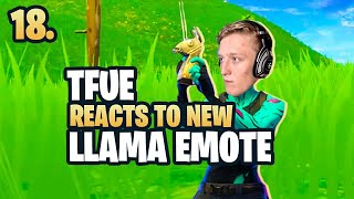 Tfue REACTS TO *NEW* LLAMA EMOTE - Ep. 18 (Fortnite Battle Royale Daily Moments)