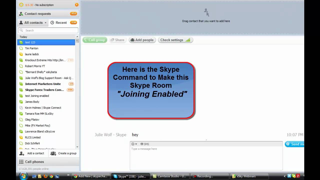 How To Join Skype Chat Room