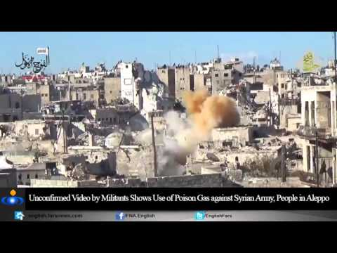 US backed militants Gas attack in Aleppo Syria December