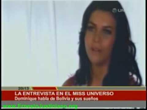 Entrevista a la Miss Bolivia Universo Dominique Peltier VIVA BOLIVIA UNIDA CARAJO!!