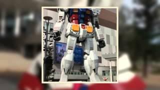Tokyo, Japan: 1:1 scale Gundam & Gundam Cafe, Odaiba