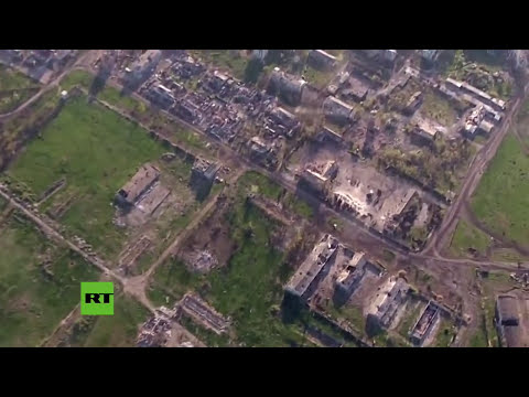 Impactante: Aeropuerto de Donetsk en ruinas a vista de dron