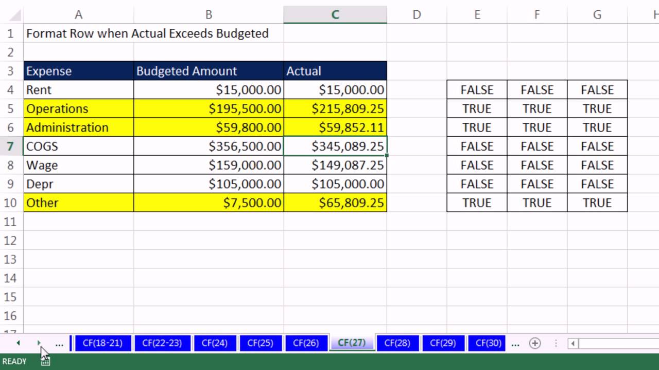 highline excel 2013 class video 40  conditional formatting