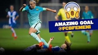 FC Barcelona Women score amazing, Maradona-esque goal!