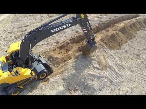 Volvo EW205D Wheeled Excavator promotional video