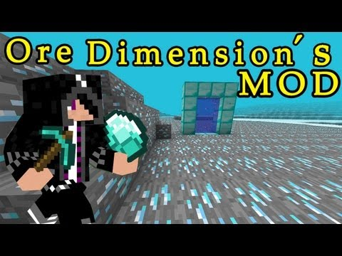 ¡¡Mundo hecho de DIAMANTES¡¡ Ore Dimension´s Mod Minecraft 1.6.2: review e instalacion