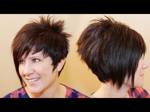 HOW TO CUT WOMENS HAIR  // Short Pixie Assymetrical A-line Haircut Tutorial