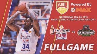 San Miguel Alab Pilipinas v Macau Black Bears | FULL GAME | 2018-2019 ASEAN Basketball League