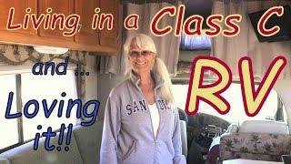 Solo Woman Joyfully living in a Class C