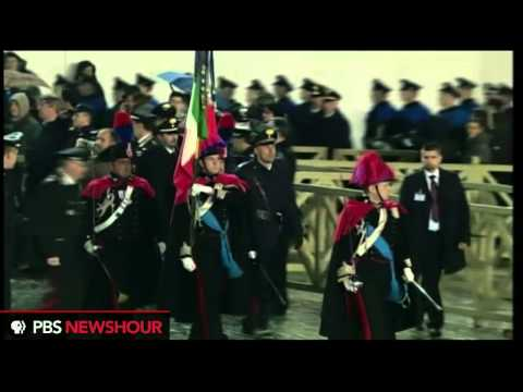 Watch the Swiss Guard March Into Vatican City in Preparation of New Pope's Announcement