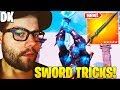 STREAMERS Show *NEW* INFINITY BLADE TRICKS and BROKEN COMBO! - Fortnite FUNNY Moments