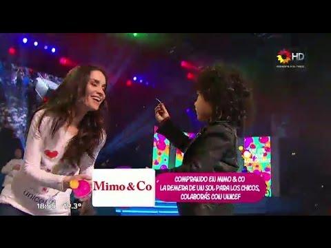 El hijo de Oreiro y Mollo baila cumbia aunque lo visten como rockero